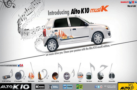 Maruti Suzuki Unveils The Alto K Musik Edition - Graphics for alto car